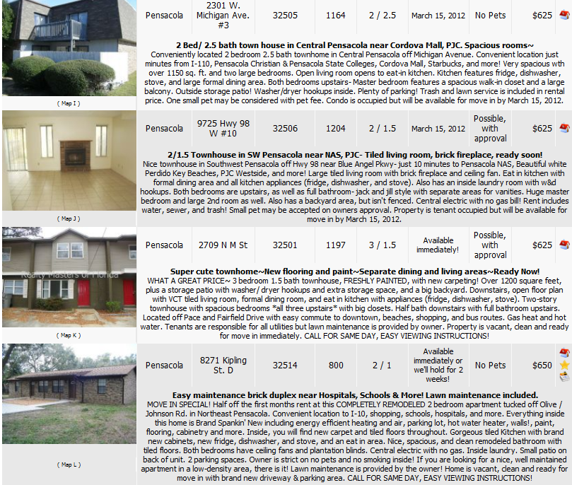 Houses For Rent Website: Love To Live In Pensacola, Florida: Pensacola Rental Homes