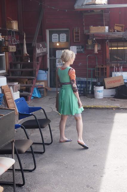thrifting+in+favorite+dress - My Mint Swirl Skater Dress & A Thrift Trip