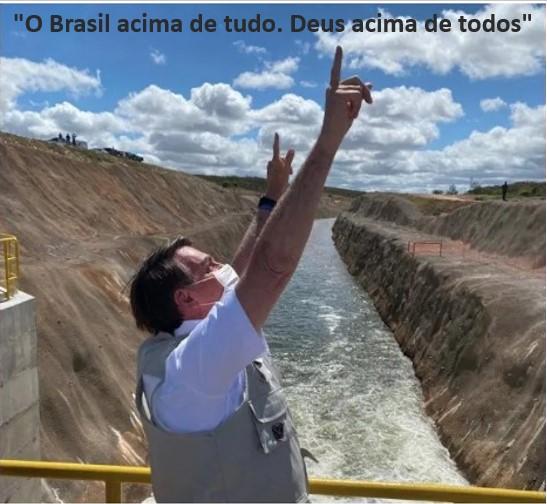 Bolsonaro abre as comportas da esperança de 12 milhões de nordestinos em 390 municípios e invoca Deus