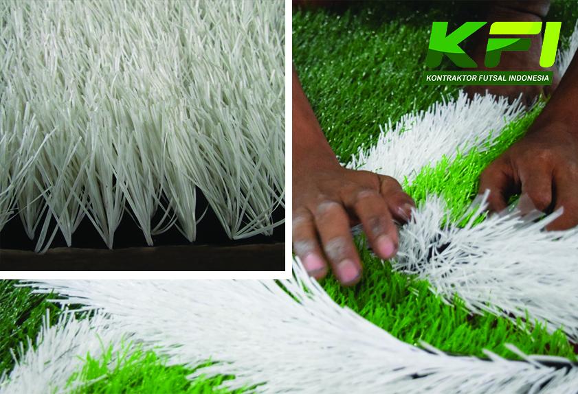 rumput futsal putih