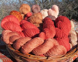 filati naturali rosso di robbia tintura naturale fiera kreativ abilmente filo lungo filo