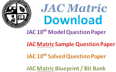 JAC 10th (Matric) Model Question Papers 2017 Blueprint