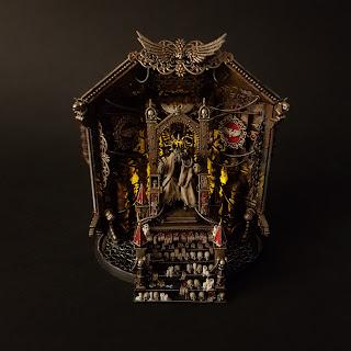 Emperor Golden Throne Warhammer 40k Blanchitsu Grimdark conversion diorama atmospheric