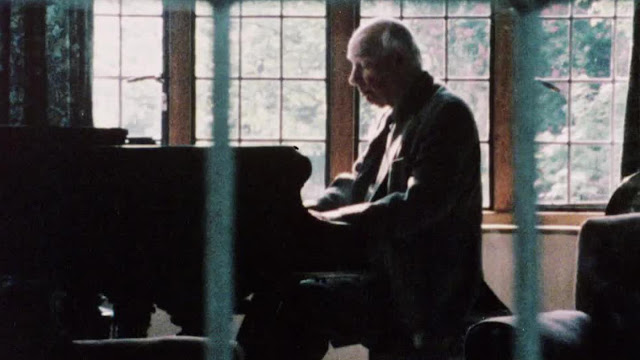 Alan Bush at his home in Radlett, taken from Anna Ambrose's 1983 documentary Alan Bush: A Life