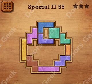 Cheats, Solutions, Walkthrough for Wood Block Puzzle Special II Level 55