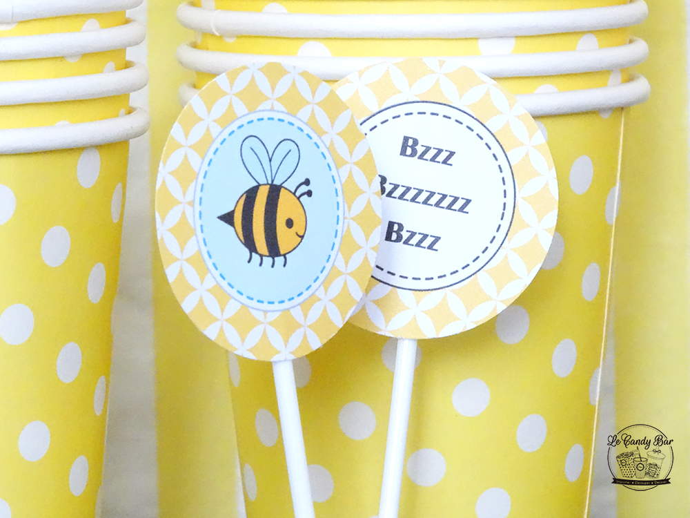 decoration jaune theme abeilles