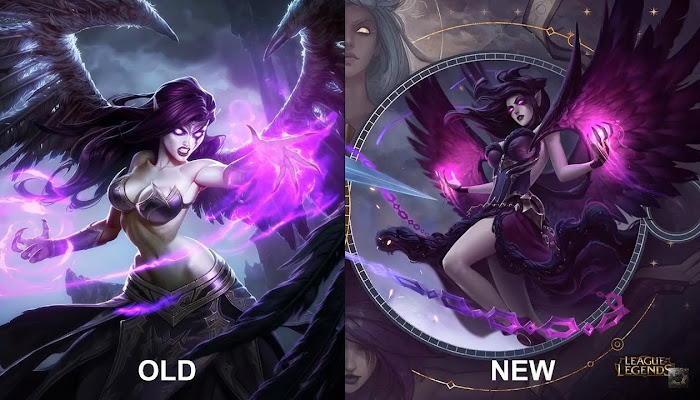 Morgana 2019 Rework NEW vs OLD Skins Comparison - League of Legends