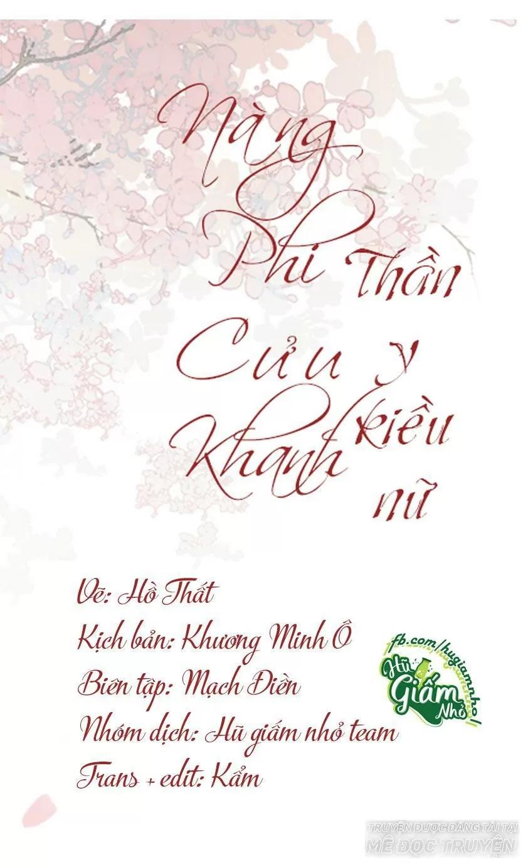 Nàng Phi Cửu Khanh - Thần Y Kiều Nữ chap 57 - Trang 1