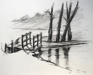 'Waggoners Wells' Sketch 7×9″