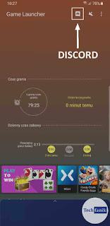 Samsung Game Launcher Aktualizacja wprowadzająca ikonę Discord