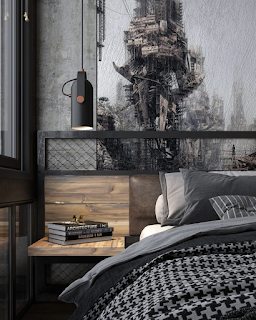 Dekorasi kamar Tidur Cowok Elegan