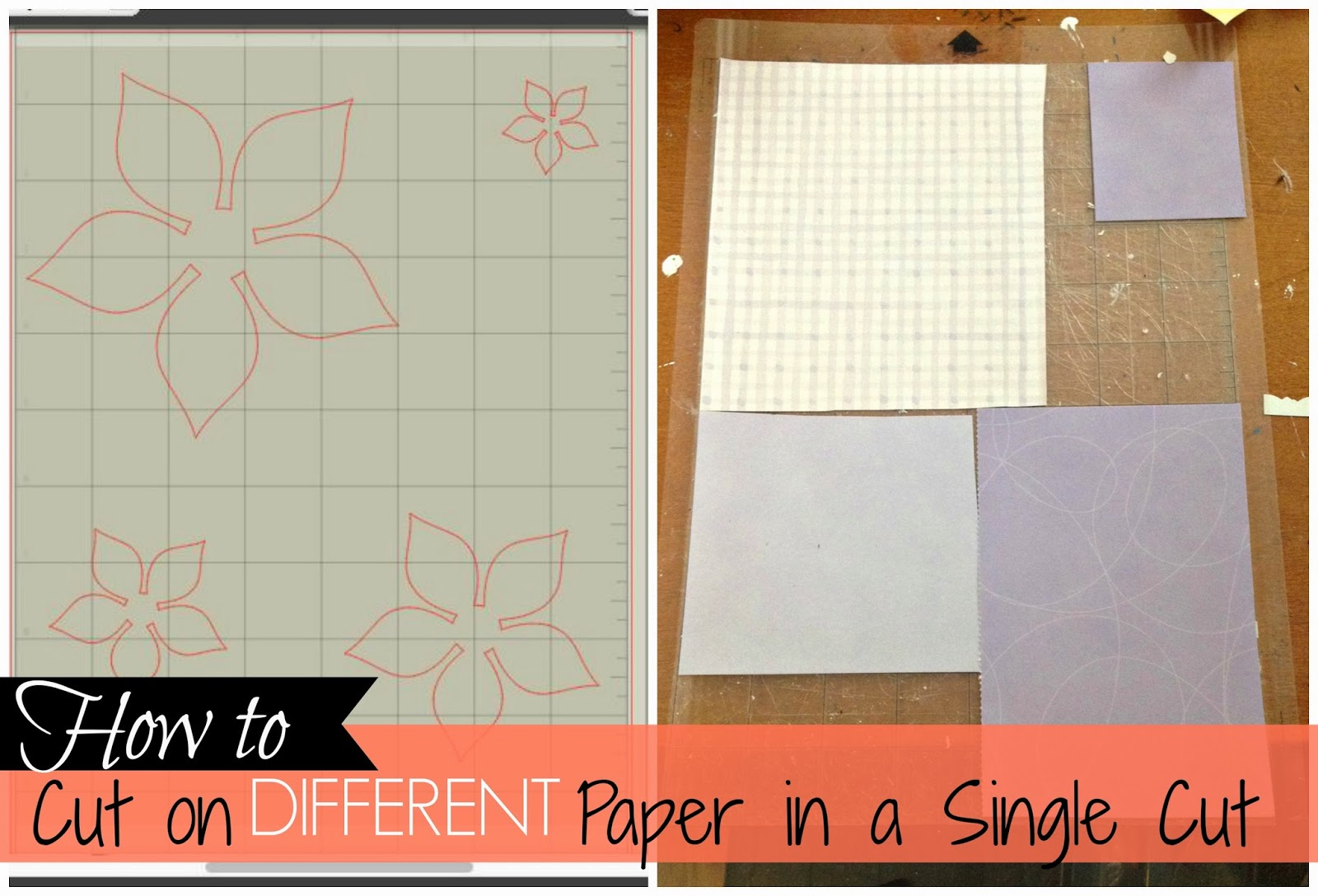 different paper, single cut, Silhouette Studio Software tutorials, grid box numbers, silhouette grid box