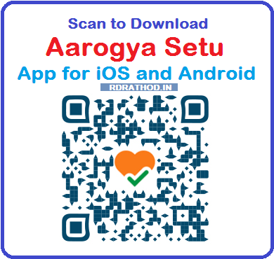 Scan to Download Aarogya Setu App for iOS and Android