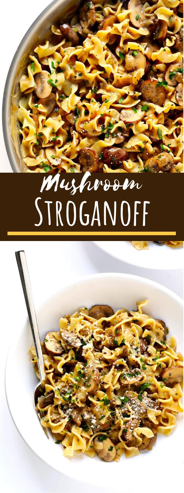 Mushroom Stroganoff #vegetarian #dinner