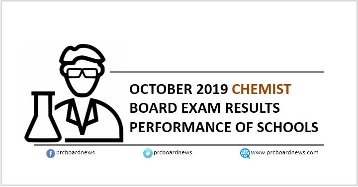 PERFORMANCE OF SCHOOLS: October 2019 Chemist board exam results
