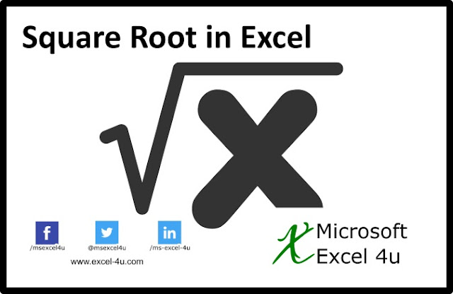 Square Root in Excel