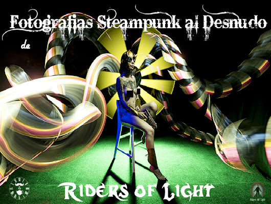 Fotografía steampunk al desnudo de Riders of Light