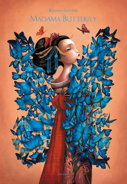 Benjamin Lacombe Portada del Libro Madame Butterfly