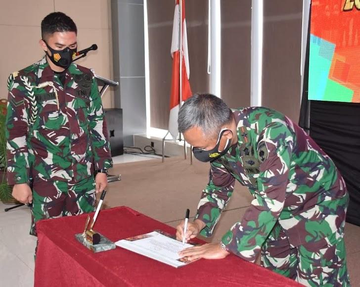 Danrem Brigjen TNI Djashar, Pimpin Penandatanganan Zona Integritas Satjar Korem 141-Tp