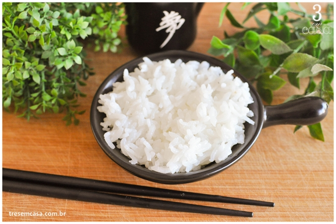 receita de arroz japonês