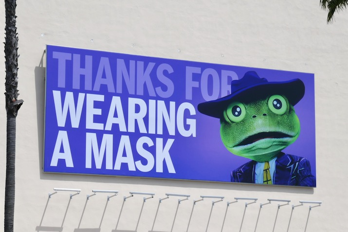 Thanks for wearing a mask Masked Singer billboard