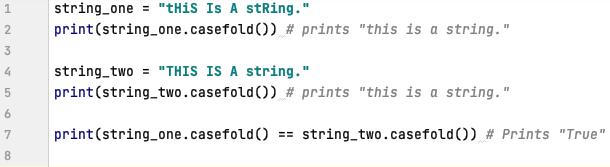 case fold in Python