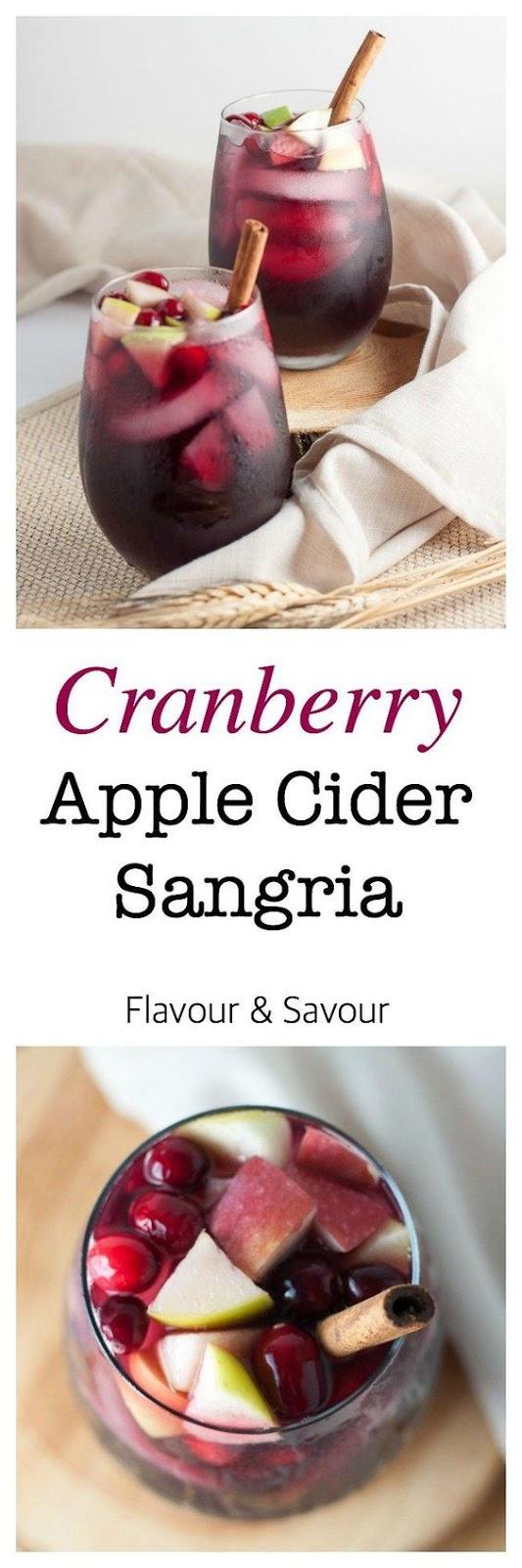 Cranberry Apple Cider Sangria