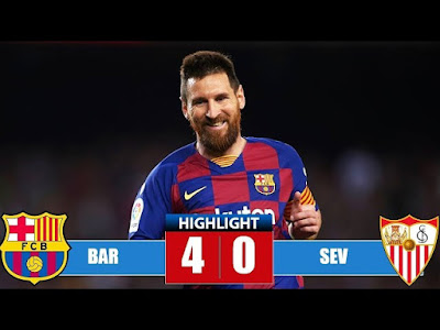 Barcelona vs Sevilla 4-0 All Goals And Match Highlights [MP4 & HD VIDEO]