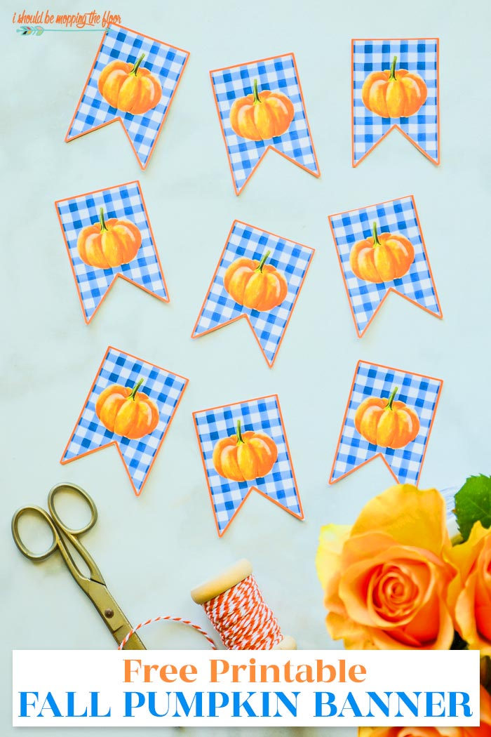 Free Printable Banner for Fall