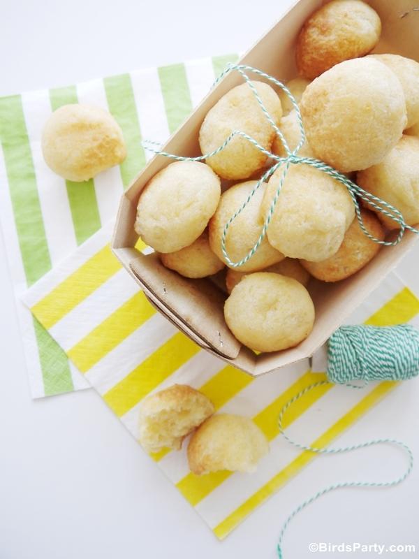 Recette Apéritif Sans Gluten Pão de Queijo Brésilien | BirdsParty.fr
