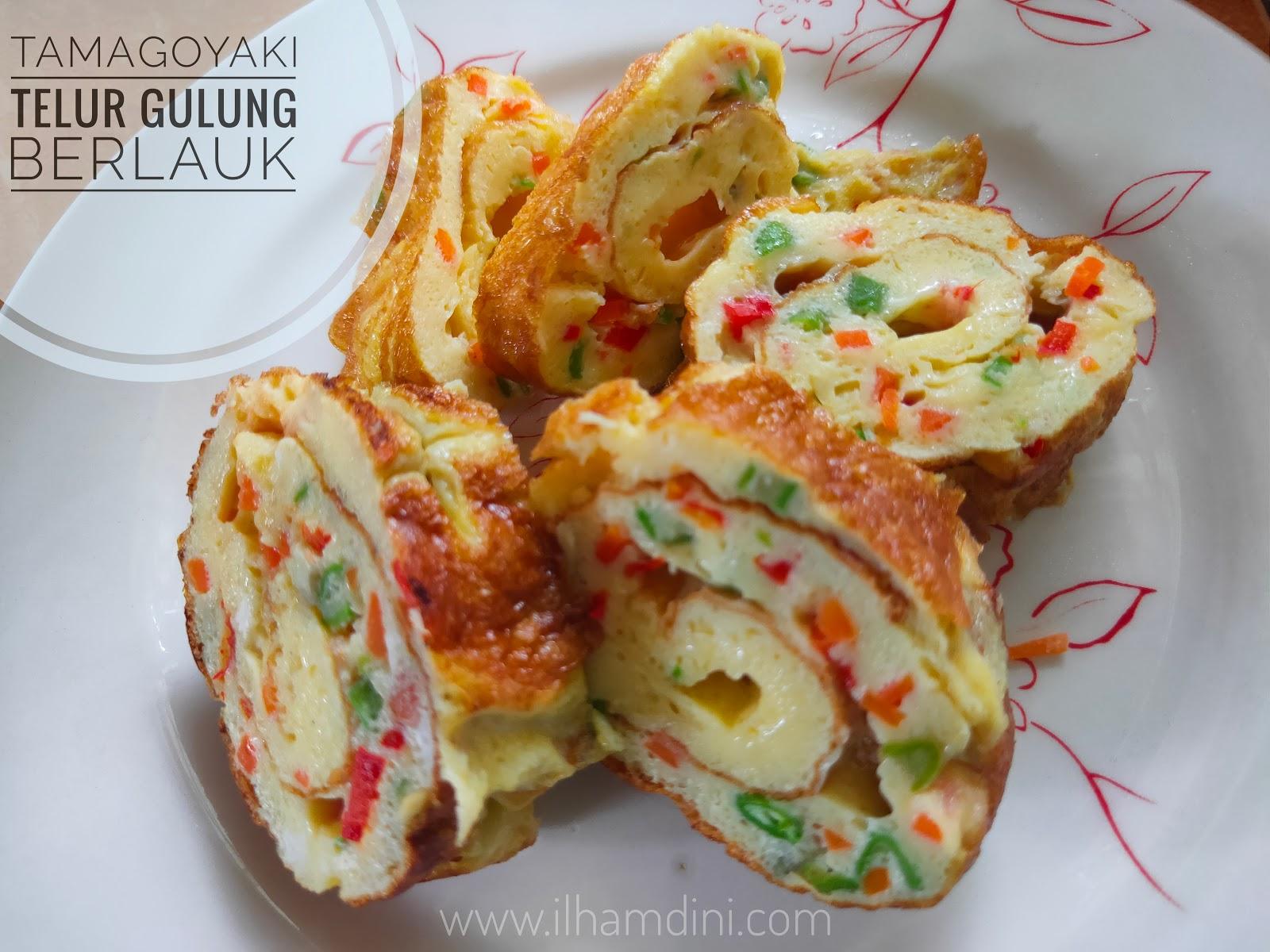 Resepi Tamagoyaki   Telur Gulung Berlauk Juadah Berbuka ...