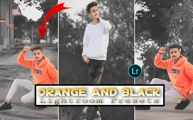 orange and black Lightroom presets free download