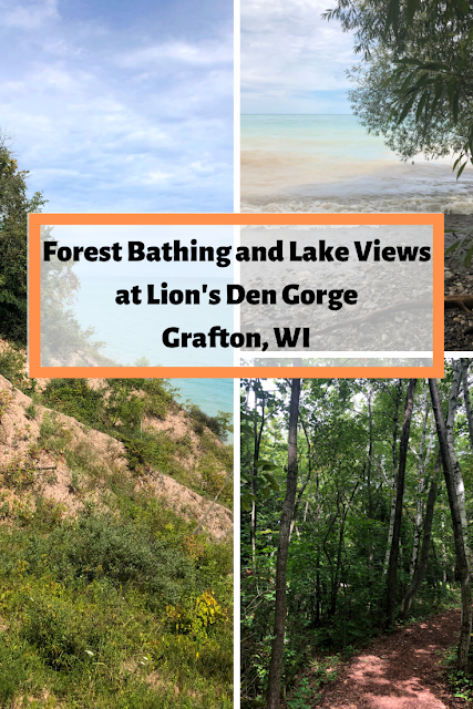 Lion's Den Gorge Nature Preserve: forest bathing and lake views in Grafton, Wisconsin savoring a great hiking option no too far from Milwaukee, Wisconsin