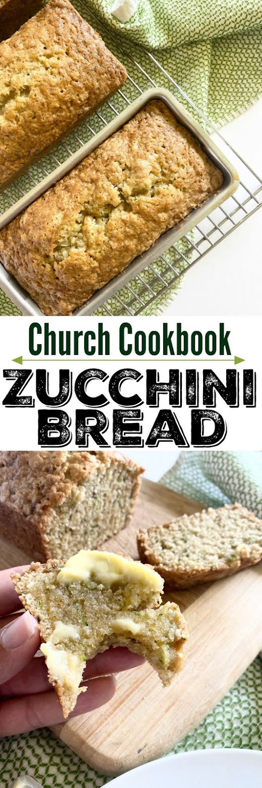 church cookbook zucchini bread #zucchinibread #sweetsavoryeats