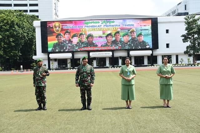 Kasad Terima Laporan Kenaikan Pangkat 70 Perwira Tinggi TNI AD,  1 Putra Asli Papua Naik Letjen