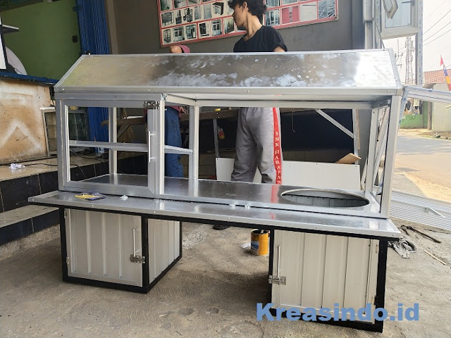Inovasi Gerobak Aluminium Motor Jualan Nasi, Usaha Pasti Lancar