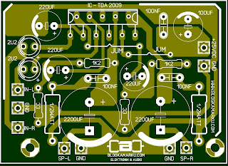 PCB Layout Mini amplifier TDA 2009