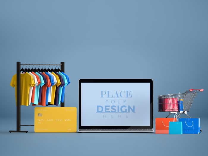 Online Shopping PSD Mockup V-3