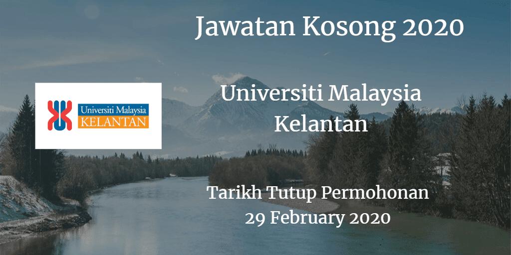Jawatan Kosong UMK 29 February 2020