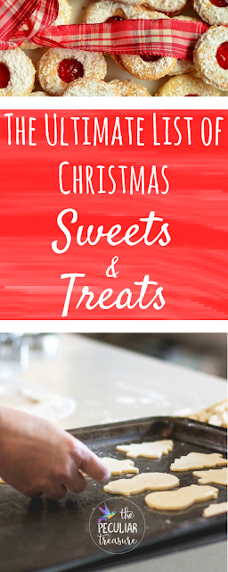 The Ultimate List of Christmas Sweets and Treats. A huge list of Christmas sweets, savory treats, and delicious drinks! #Christmas #Baking #Cookies