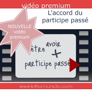 vidéo premium, accord du participe passé, grammaire française, FLE, le FLE en un 'clic'