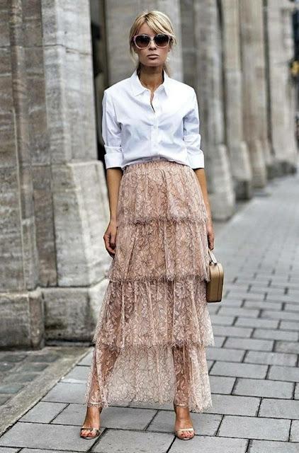 stylizacja wiosenna, stylizacja letnia,maksi spodnice