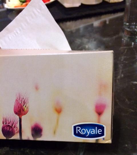 Royale tissue box.