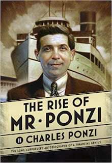 The cover of a recent reprint of Ponzi's  autobiography, written in the 1940s