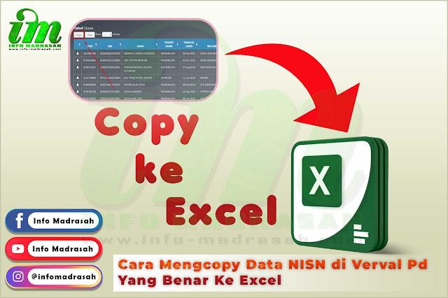 Cara Mengcopy Data NISN di Verval Pd Yang Benar Ke Excel