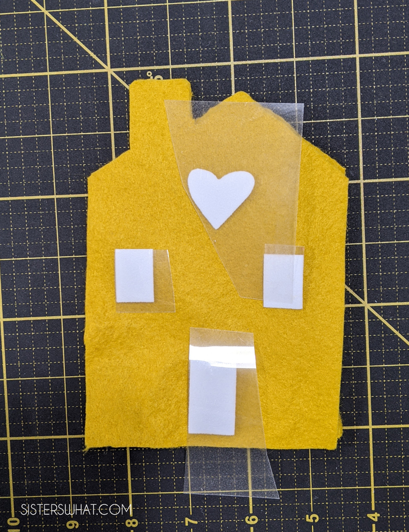silhouette felt house pattern