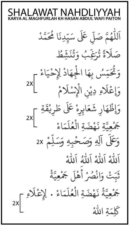 Teks Sholawat Nahdliyyah Arab Latin Dan Artinya Karya