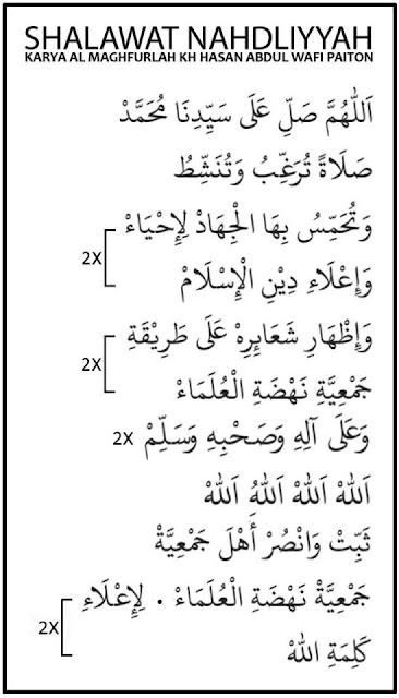 shalawat nahdliyah kh hasan abdul wafi