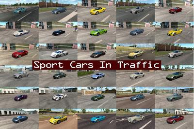 Mod Sport Cars Traffic Pack by TrafficManiac v3.4