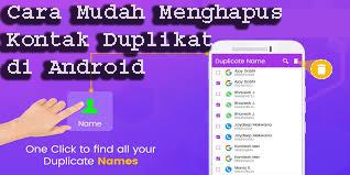Cara Mudah Menghapus Kontak Duplikat di Android 1